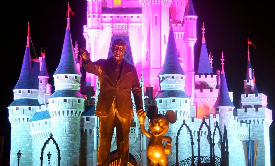 Partners Statue at Night Magic Kingdom